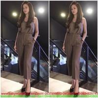 Đầm fashion : Jumsuit áo 2 dây phối quần lửng thời trang SS299