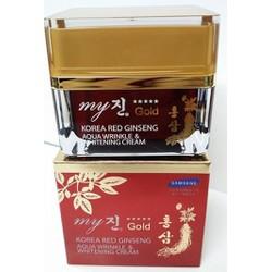 Kem trị nám và trắng da hồng sâm đỏ Aqua Wrinkle My Gold 50ml