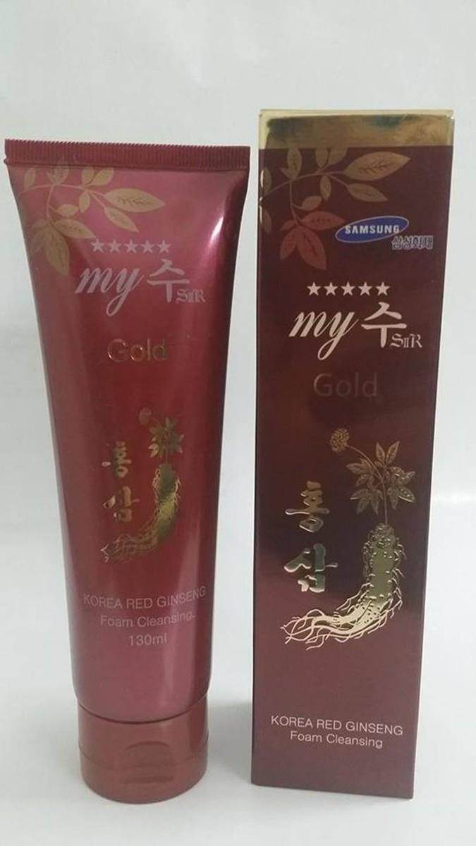Sữa Rửa mặt trắng da hồng sâm đỏ My Gold 130ml xách tay Hàn Quốc 1