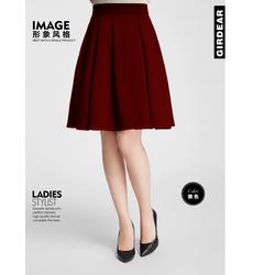 Chân váy xòe dài xếp ly cao cấp C4