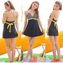 Đồ bơi,bikini váy sọc hải quân gợi cảm-DB026