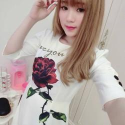 Đầm suông họa tiết hoa hồng lớn D639