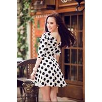 Đầm Angela Phương Trinh Chấm Bi Xinh Xắn YKMD1919