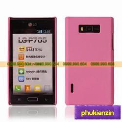Ốp Lưng LG Optimus L7 P705 Nhựa hồng nhạt