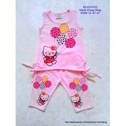 Bộ Hello Kitty quần lửng dễ thương
