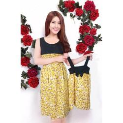 Đầm Maxi thời trang cho mẹ và bé