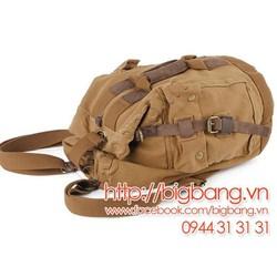 Túi xách, túi du lịch Vải và Da 001 - Kaki. FreeShip toàn quốc