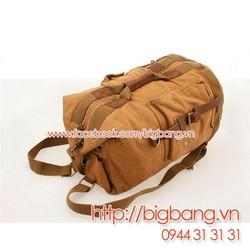 Túi xách, túi du lịch Vải và Da 001 - Nâu. FreeShip toàn quốc