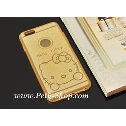 Ốp dẻo trong hình Kitty iPhone 5 5S