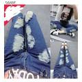 Quần jeans nữ dài rách nhiều Mã: QD607