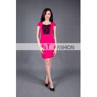 Váy đầm nữ HT4012 Hồng Đậm