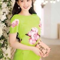 Đầm suông hoa khoe dáng đẹp rực rỡ eDDNC88