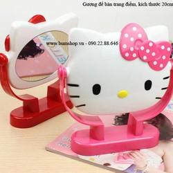 Gương để bàn kitty xinh iu