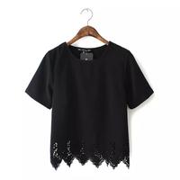 [laila fashion] Áo sơ mi nữ công sở màu đen 2015 AH1512