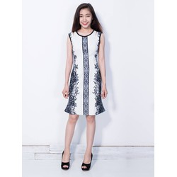 Đầm ôm cut out họa tiết