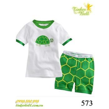 573 - Bộ Gap ngắn - Green Turtle - Tinker Bell Kids