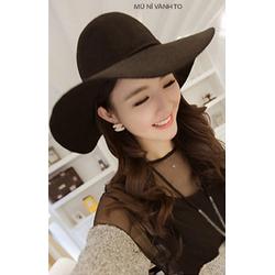 Nón mũ rộng vành thời trang nỉ nhập cao cấp LZNM1509