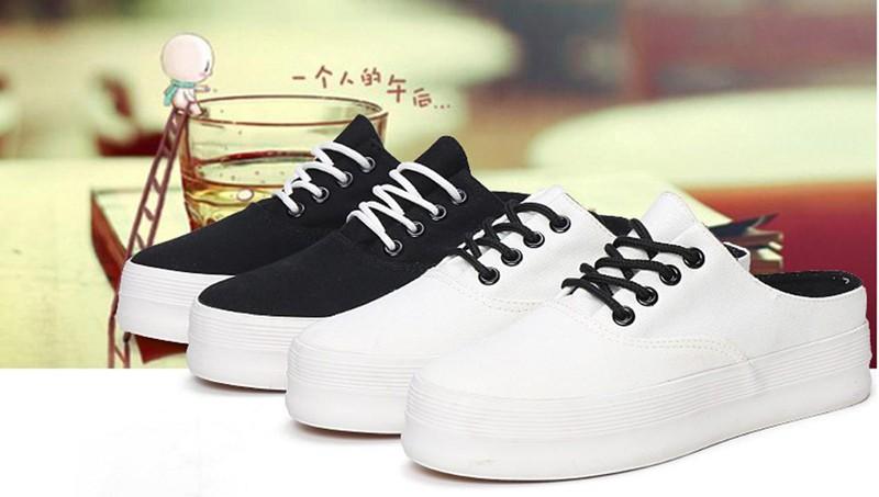 Phong cách trẻ trung cùng giày sneaker nữ đế cao