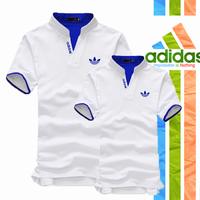 Mao Mao - Áo Thun Cặp Adidas Cổ Trụ Thời Trang - Màu Trắng - SD_01A