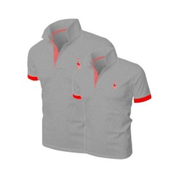 Mao Mao - Áo Cặp Đôi Logo Huơu Cao Cấp - Màu Xám Lông Chuột - HU_10