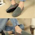 Giày nam mọi da lộn viền màu