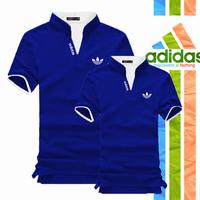 NK0606 - Áo Thun Cặp Adidas Cổ Trụ Hot - Màu Xanh Bích - SD_01D