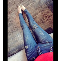quần jeans skinny rách cá tính Mã: QD587