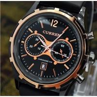 Đồng hồ dây giả da cao cấp Cur-8066