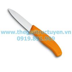 Dao cắt rau củ Victorinox lưỡi răng cưa màu cam