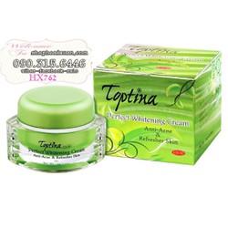 Kem trị mụn dưỡng trắng mịn da UV30 cao cấp TOPTINA - HX762