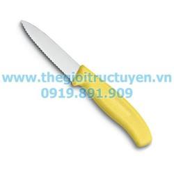 Dao cắt rau củ Victorinox lưỡi răng cưa màu vàng