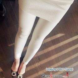 Quần Legging giả da trăn đẹp - Màu trắng