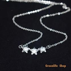 [Greenlife Shop] DX567 - Dây chuyền 3 ngôi sao đá