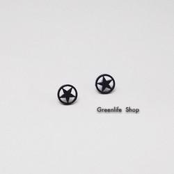 [Greenlife Shop] BX447 - Khuyên tai inox ngôi sao viền tròn