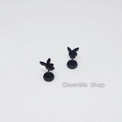 [Greenlife Shop] BX442 - Khuyên tai inox Playboy