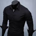 Aó sơ mi nam đen trơn vải đẹp chất liệu không nhăn trẻ trung, cá tính