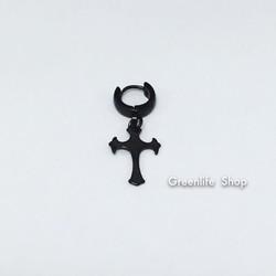 [Greenlife Shop] BX448 - Khuyên tai inox thánh giá đen