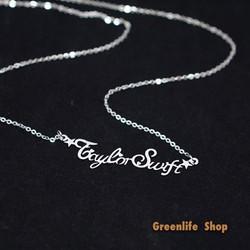 [Greenlife Shop] DX572 - Dây chuyền chữ Taylor Swift