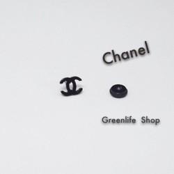 [Greenlife Shop] BX441 - Khuyên tai inox Channel đen