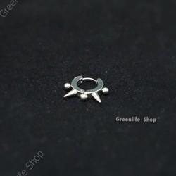 [Greenlife Shop] BX434 - Khuyên tai inox gai nhọn hạt châu