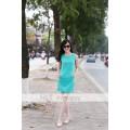 Váy suông xanh ngọc