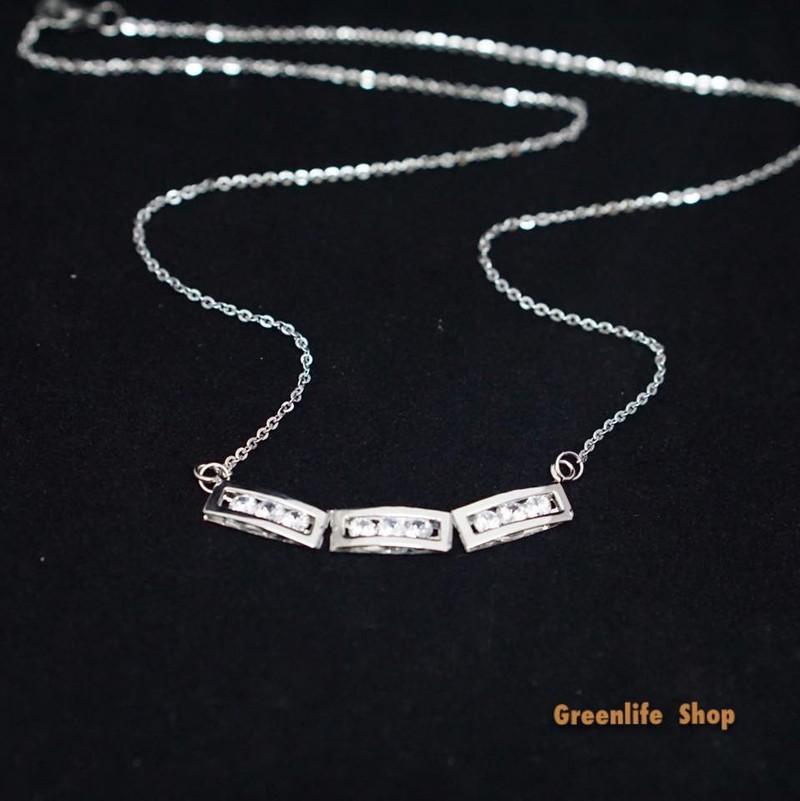 [Greenlife shop] DX569 - Dây chuyền 3 thanh đá dài cao cấp 1