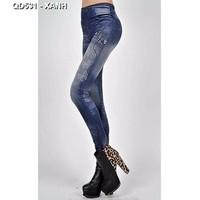 Quần skinny giả jeans con bướm Mã: QD531 - XANH