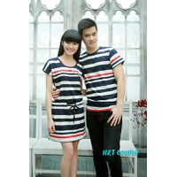 Áo phông nam - váy nữ đôi HT206