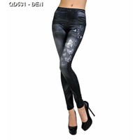 Quần skinny giả jeans con bướm Mã: QD531 - ĐEN