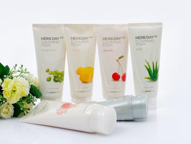 sua rua mat herb 365 day cleansing foam the face shop 1m4G3 170872 Dùng sữa rửa mặt thế nào cho đúng đắn