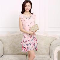 Hàng Nhập: Đầm Hoa phong cách hàn quốc DX400