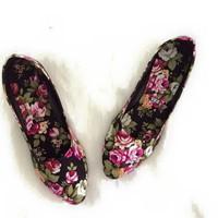 Giày búp bê hoa cao cấp