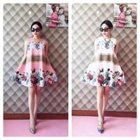 Đầm xòe viền chân váy hoa hồng 2 màu - Hàng fake Cao Cấp - 210.000 VNĐ