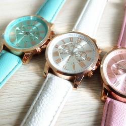 Đồng hồ nam kim dây da nhiều màu